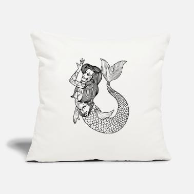 "Tatoo VINTAGE MERMAID ART Mermaid Gift For Women - Throw Pillow Cover 18"" x 18"""
