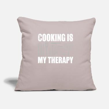 "Gourmet Cooking Cook Chef Food Grill Kitchen Pan Gift - Throw Pillow Cover 18"" x 18"""