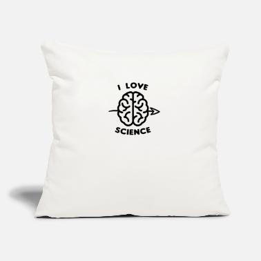 "Funny I Love Science Detective Forensic Geek Brain - Throw Pillow Cover 18"" x 18"""