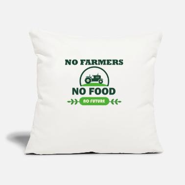 "Food NO food no food no future - Throw Pillow Cover 18"" x 18"""