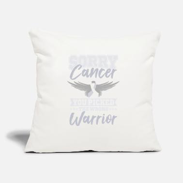 "World Cancer Day SORRY CANCER World Cancer Day Gift Awareness - Throw Pillow Cover 18"" x 18"""