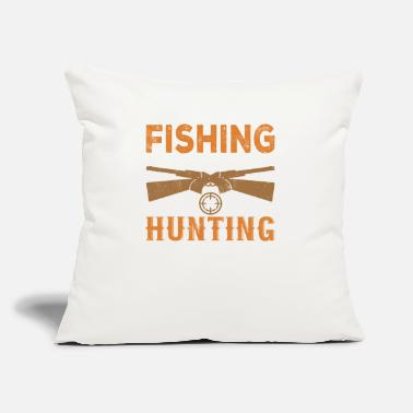"Stag Hunting Hunter Hunt Stag Deer Hunting Antler Gift - Throw Pillow Cover 18"" x 18"""