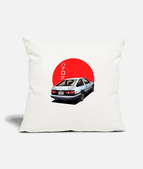 "Initial-d Pillow Cases - AE86 Initial d Trueno Japan Movie - Throw Pillow Cover 18"" x 18"" natural white"