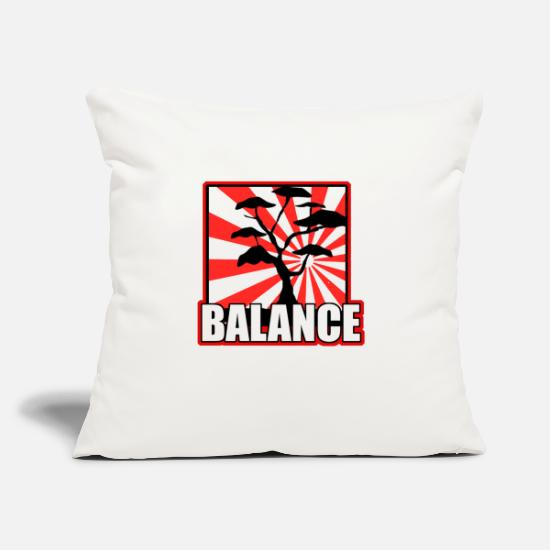 "Birthday Pillow Cases - Balance - Throw Pillow Cover 18"" x 18"" natural white"
