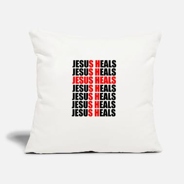 "Heal Jesus heals - Throw Pillow Cover 18"" x 18"""