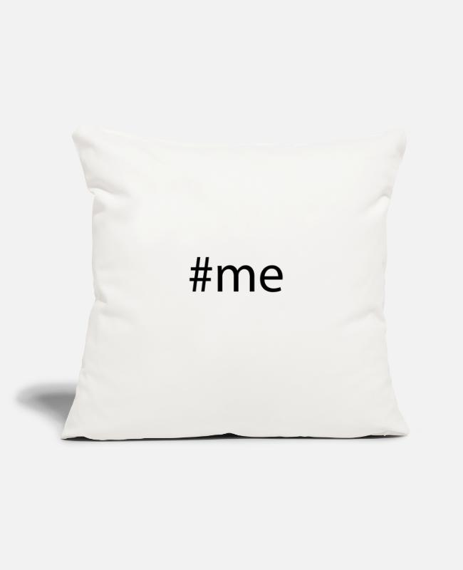 "Hashtag Pillow Cases - #me Hashtag Trend Cool Popular Social Media Tag - Throw Pillow Cover 18"" x 18"" natural white"