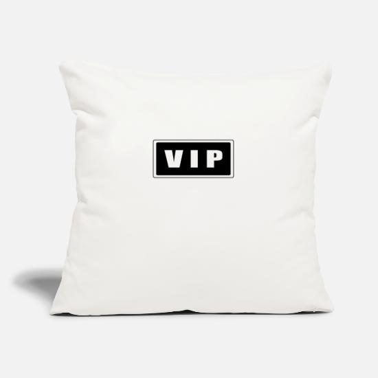 "Staff Pillow Cases - VIP - Throw Pillow Cover 18"" x 18"" natural white"