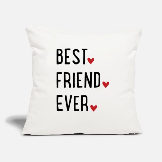 "Bff Pillow Cases - Best Friend ever - Throw Pillow Cover 18"" x 18"" natural white"