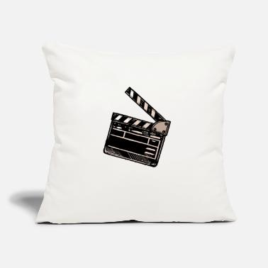 "Flap Video Film Flap - Throw Pillow Cover 18"" x 18"""