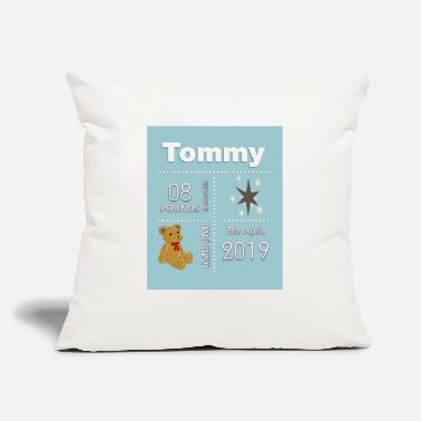 "Date Of Birth Birth Date Shirts and accessories - Throw Pillow Cover 18"" x 18"""