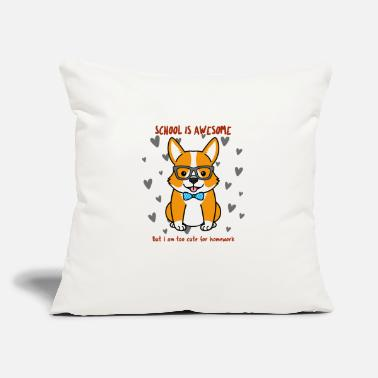 "Too Cute for Homework - Throw Pillow Cover 18"" x 18"""