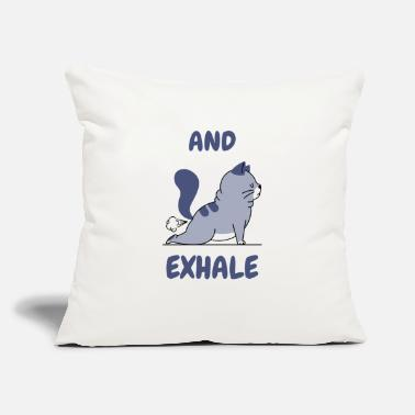 "Funny Yoga funny Yoga Cat - Throw Pillow Cover 18"" x 18"""