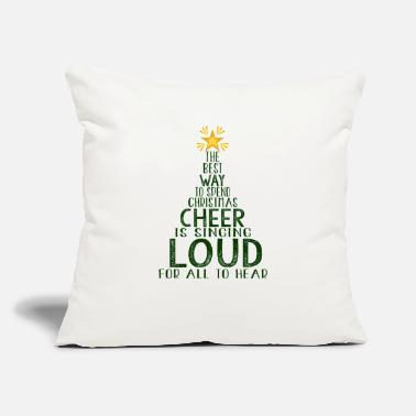 "Christmas Singing Cheer Is Singing Loud, Christmas, Holiday - Throw Pillow Cover 18"" x 18"""