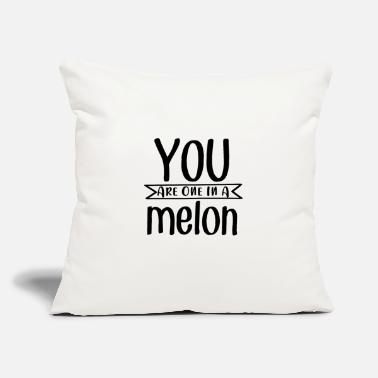 "Marry You Are One In A Melon - Throw Pillow Cover 18"" x 18"""