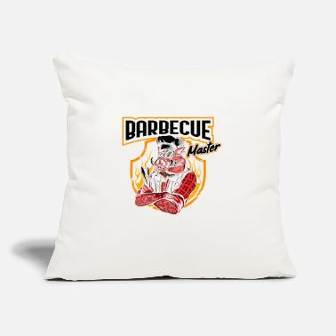 "Gas barbecue master - Throw Pillow Cover 18"" x 18"""
