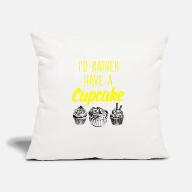 "Ice I would rather have a cupcake - Throw Pillow Cover 18"" x 18"""