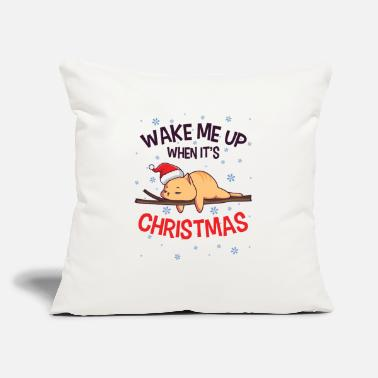 "Best Nana Eve Lazy Cat Santa Domestic Animal Kitten Owner - Throw Pillow Cover 18"" x 18"""