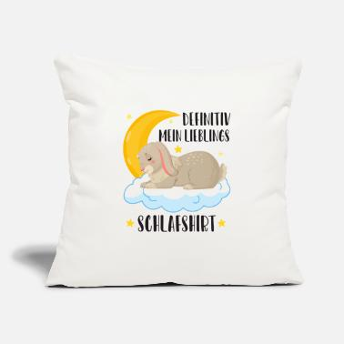 "Bed Definitely my favorite sleep shirt bunny rabbit ra - Throw Pillow Cover 18"" x 18"""
