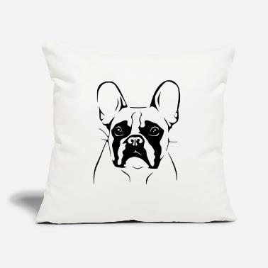 "French Bulldog - Throw Pillow Cover 18"" x 18"""