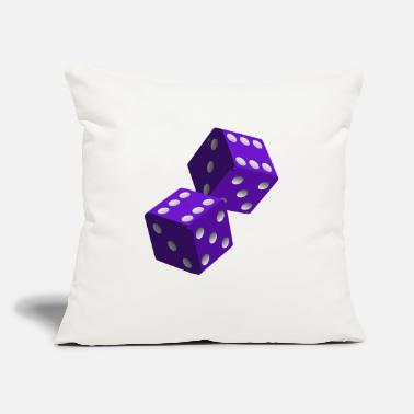 "Dice dice - Throw Pillow Cover 18"" x 18"""