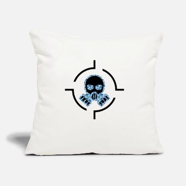 "Gas Mask Gas mask - Throw Pillow Cover 18"" x 18"""