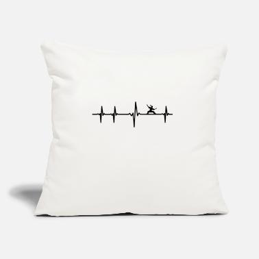 "Kampfsport EKG Herzschlag Heartbeat Karate Kampfsport - Throw Pillow Cover 18"" x 18"""