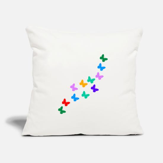 "Birthday Pillow Cases - BUTTERFLY SCHMEETERLINGE GESCHENKIDEE WUNDERSCHÖN - Throw Pillow Cover 18"" x 18"" natural white"