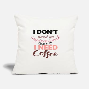 "Coffe coffe - Throw Pillow Cover 18"" x 18"""