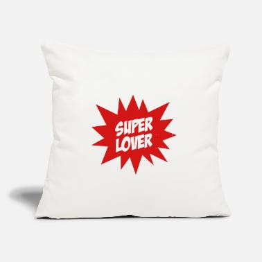"Romantic Joke Darling Super Lover - Throw Pillow Cover 18"" x 18"""
