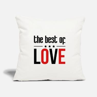 "Romantic Joke Darling The best of Love - Throw Pillow Cover 18"" x 18"""