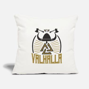 "Axe Viking Valhalla axes knot Thor Odin north - Throw Pillow Cover 18"" x 18"""