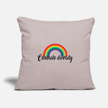 "Gay Pride Celebrate diversity. Rainbow Gay Design - Throw Pillow Cover 18"" x 18"""