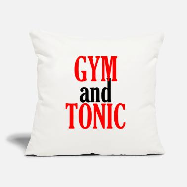 "Gym and Tonic - Throw Pillow Cover 18"" x 18"""