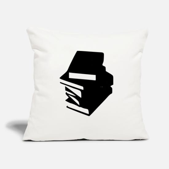 "Literature Pillow Cases - Books - Throw Pillow Cover 18"" x 18"" natural white"
