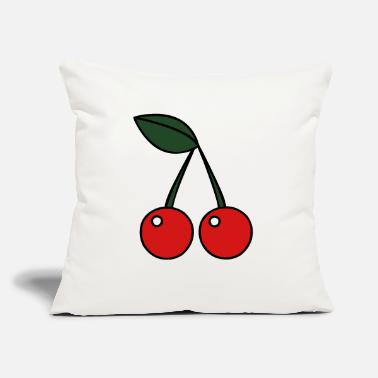 "cherries - Throw Pillow Cover 18"" x 18"""