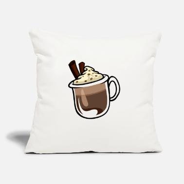"Hot Chocolate - Throw Pillow Cover 18"" x 18"""