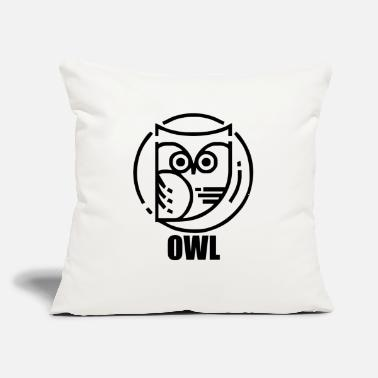 "Circular circular owl - Throw Pillow Cover 18"" x 18"""