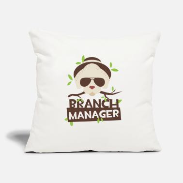"Branch Branch Manager Panda Bear - Throw Pillow Cover 18"" x 18"""