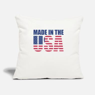 "Made made in usa - Throw Pillow Cover 18"" x 18"""