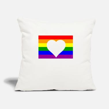 "Rainbow Flag Rainbow flag - Throw Pillow Cover 18"" x 18"""