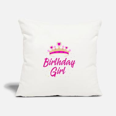 "Birthday Present Birthday Girl Gift Idea Birthday Party - Throw Pillow Cover 18"" x 18"""