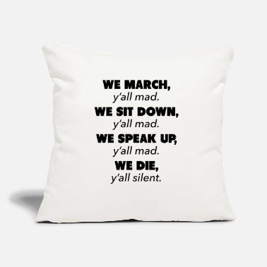 "Civil Rights Movement Y'all Mad Civil Rights - Throw Pillow Cover 18"" x 18"""