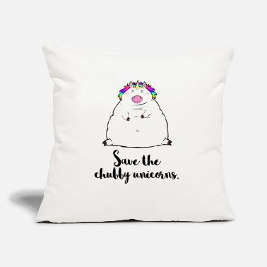 "Save The Chubby Unicorn Save the chubby unicorns. - Throw Pillow Cover 18"" x 18"""