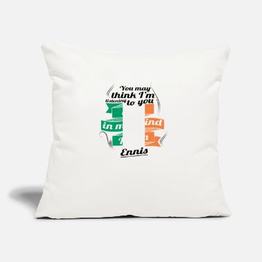 "Enni URLAUB irland ROOTS TRAVEL I M IN Ireland Ennis - Throw Pillow Cover 18"" x 18"""