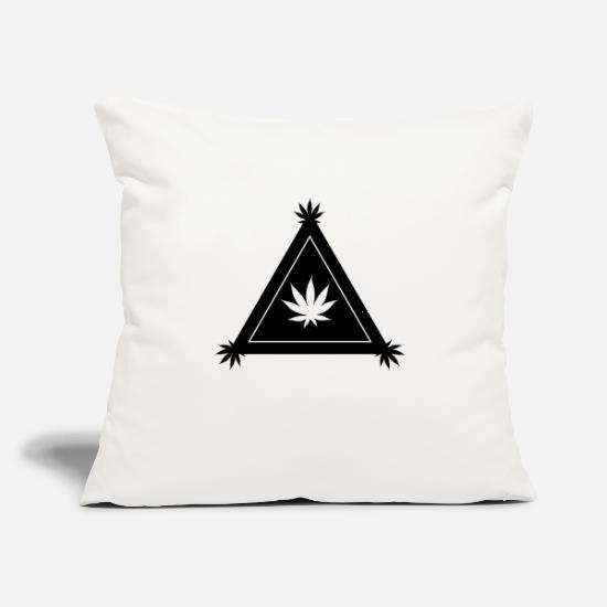 "Hemp Pillow Cases - Hemp Cannabis - Throw Pillow Cover 18"" x 18"" natural white"