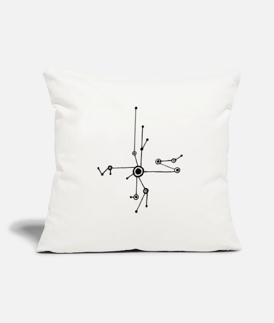 "Tech Pillow Cases - Tech design - Throw Pillow Cover 18"" x 18"" natural white"