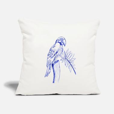 "Drawing parrot line drawing - Throw Pillow Cover 18"" x 18"""