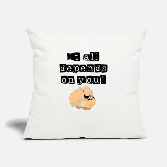 "Monday Motivation Pillow Cases - motivation - Throw Pillow Cover 18"" x 18"" natural white"