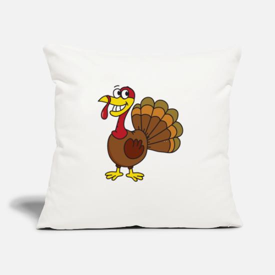 "November Pillow Cases - Turkey Thanksgiving Gobbler Poultry - Throw Pillow Cover 18"" x 18"" natural white"