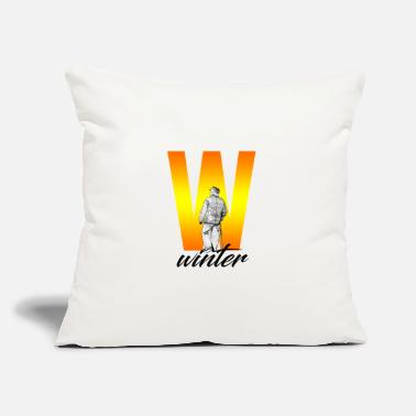 "Ski Resort Winter sports - Throw Pillow Cover 18"" x 18"""